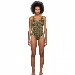 Solid And Striped Black and Gold The Anne-Marie One-Piece Swimsuit S008-4268RE3