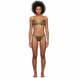 Solid And Striped Black and Tan The Lulu Bikini S072 / S073