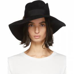 Gucci Black Felt Wide-Brim Hat 454671 3HA04