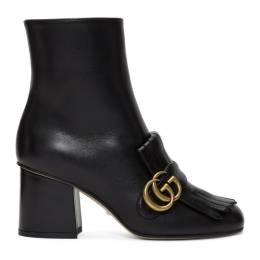 Gucci Black Double G Ankle Boots 408210 C9D00