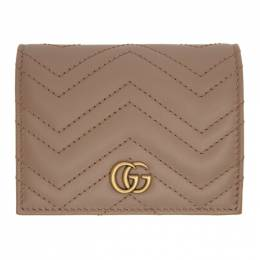 Gucci Pink GG Marmont Card Case Wallet 466492 DTD1T