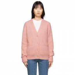 Tibi Pink Alpaca Cozette Cardigan R119CZ6230