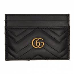 Gucci Black GG Marmont Card Case 443127 DTD1T