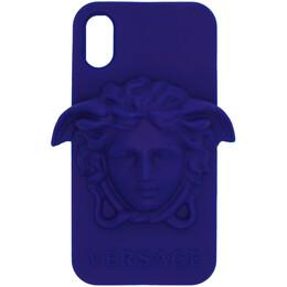 Versace Blue Medusa iPhone X Case DPY7314M DPCME
