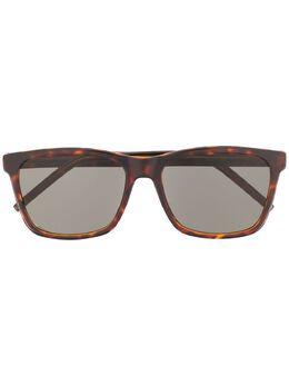 Saint Laurent Eyewear солнцезащитные очки черепаховой расцветки SL318
