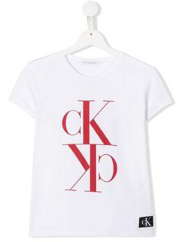 Calvin Klein Kids футболка с логотипом IG0IG00419
