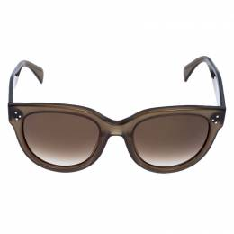 Celine Olive Green/Green Gradient CL 41755 Audrey Round Sunglasses