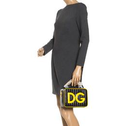 Dolce&Gabbana Black/Yellow Coated Canvas DG Girls Crossbody Bag 248531