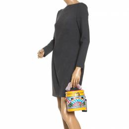 Dolce&Gabbana Multicolor Leather Sicilian Carretto DG Girls Vanity Crossbody Bag 248713