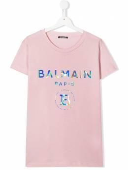 Balmain Kids футболка с логотипом 6M8021MX030
