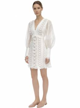 Мини-платье Из Органзы Zimmermann 71IRSQ001-SVZPUlk1