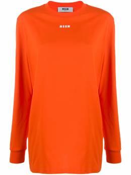 MSGM футболка с длинными рукавами и логотипом 2742MDM182195797