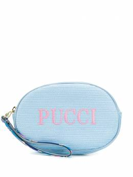 Emilio Pucci косметичка с вышитым логотипом 0ESF340E903