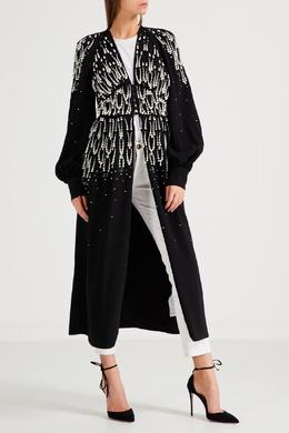Черное платье с жемчугом Attico 1869167085