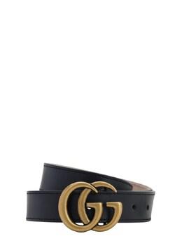 Ремень Из Кожи С Лого Gucci 73ILAS004-NDAwOQ2