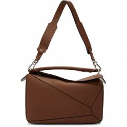 Loewe Brown Large Puzzle Bag 322.12.S19