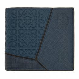 Loewe Indigo Puzzle Bifold Wallet 124.99.501