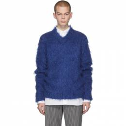 Marni Blue Mohair Brushed Finish Sweater CVMG0036A0 S17213