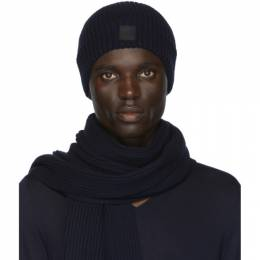 Boss by Hugo Boss Navy Gianto Beanie and Scarf Set 50420679