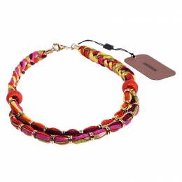 Missoni Multicolor Double Rope Braided Necklace 248326