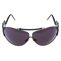 Roberto Cavalli Black 300S Carneia Oversize Sunglasses 248406
