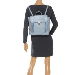 3.1 Phillip Lim Blue Periwinkle Cream Leather Pashli Backpack 246458
