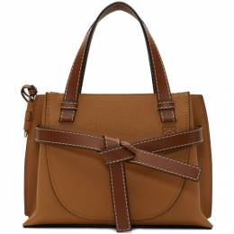Loewe Brown Mini Gate Top Handle Bag 321.12.Z99