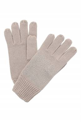 Бежевые перчатки с декором из стразов Liu Jo 1776168132