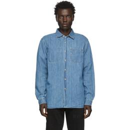 Saturdays Nyc Indigo Denim Kenmare Shirt M12020KE01