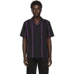 Saturdays Nyc Black Canty Stripe Shirt M12030CT01