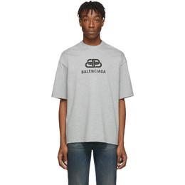 Balenciaga Grey Vintage BB T-Shirt 578139-TGV75-1300