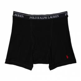 Polo Ralph Lauren Three-Pack Grey and Black Boxer Briefs RCBBP390D