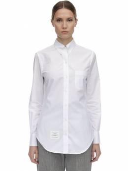 Рубашка Из Хлопка Поплин Thom Browne 70I515004-MTAw0