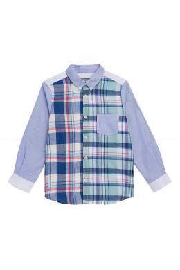 Голубая рубашка с узорами Bonpoint 1210168175