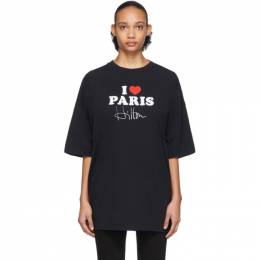 Vetements SSENSE Exclusive Black I Love Paris T-Shirt SS20TR248