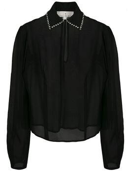Fleur Du Mal блузка с декорированным воротником TP02760100