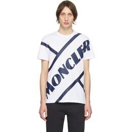 Moncler White Tennis Logo T-Shirt 8C706108390T001