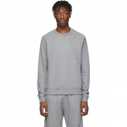 John Elliott Grey Raglan Crew Sweatshirt B056B0223A