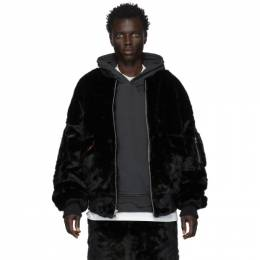 Landlord Black Faux-Fur Bomber Jacket FFC19-BJ-BK