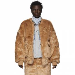 Landlord Brown Faux-Fur Bomber Jacket FFC19-BJ-B