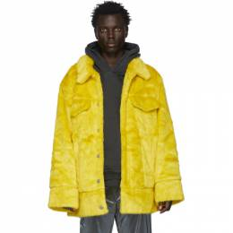 Landlord Yellow Faux-Fur Jacket FFC19-DJ-Y