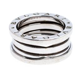 Bvlgari B.Zero1 18K White Gold 3-Band Ring Size 50 250858
