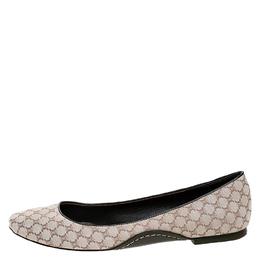 Celine Cream Jacquard Monogram Canvas Ballet Flats Size 39 250202