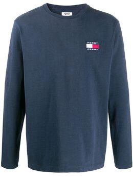 Tommy Jeans футболка с вышитым логотипом DM0DM06958