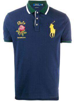 Polo Ralph Lauren рубашка-поло с вышитым логотипом 710784712