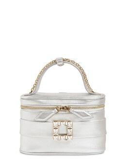 Micro Rv Vanity Metallic Leather Bag Roger Vivier 71IVUW012-QjIwMA2