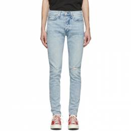 Rag&Bone Blue Fit 1 Hole Jeans MED19H1224C6BH