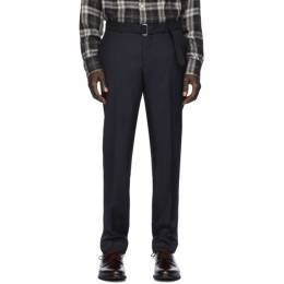 Officine Generale Navy Wool Pinpoint Paul Trousers S20MTLG103PRE