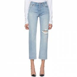 Re/Done Blue 90s Loose Straight Jeans 188-3WLSTR