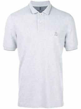 Brunello Cucinelli футболка-поло с вышитым логотипом M0T639779GCK914